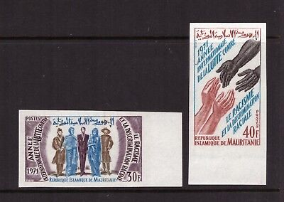 Mauritania MNH 1971 Year against Racial Discrimination imperf. set mint stamps