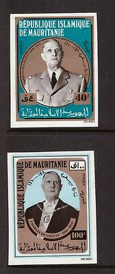 Mauritania MNH 1971 Politician Charles de Gaulle imperf. set mint stamps