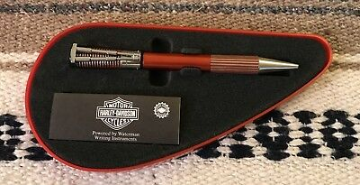 Brand New Harley Davidson Collector's Pen In Red, Gas Can Case
