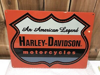 Ande Rooney Harley Davidson American Legend Tin Sign New Free Shipping