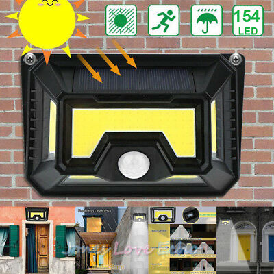 154 Solar LED Light Outdoor Garden Waterproof Wireless Security Motion 3 Modes