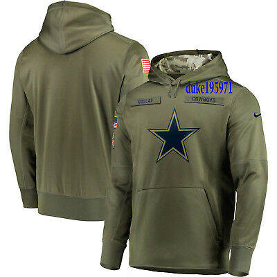 Nike DALLAS COWBOYS 2018 Mens NFL Salute to Service Therma STS Hoodie Large
