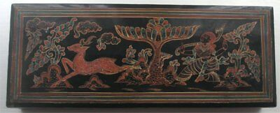 19th Century Burmese Lacquered Ware Box Traditional Yun Design