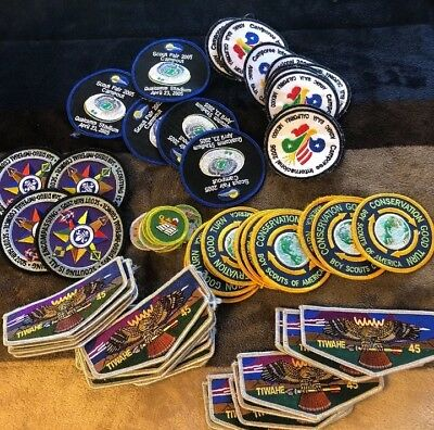Boy Scout Patches Large Lot Of Over 65 Patches