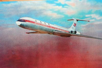 AK Airliner Postcard CAAK CHOSONMINHANG IL-62 airline issue II
