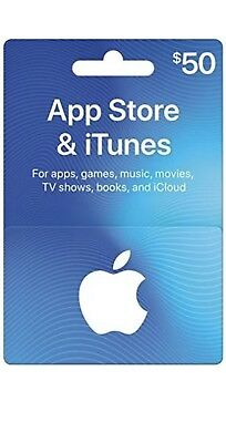 App Store iTunes Gift Cards $50