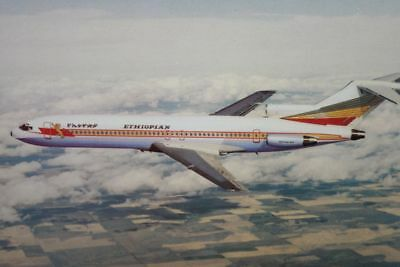 AK Airliner Postcard ETHIOPIAN B.727 airline issue II