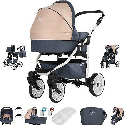 Friedrich Hugo Berlin | 3 in 1 pram & pushchair set travel set | GEL wheel