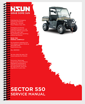 HISUN HS SECTOR Vector 500 550 UTV Printed Service Manual NOT FOR HOME DEPOT
