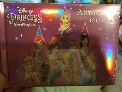 Disney World Parks Princess Pink Autograph Book With 25 Photo Sleeves