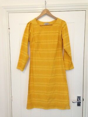 Per Una Marks And Spencer Sz8 Embroidered Cotton Dress