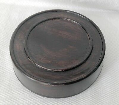 "4.5""  Brown Chinese Oriental Solid Wooden Lid Cap Cover for Ginger Jar and Vases"