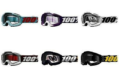 100/% Accuri Goggles MX Motocross Offroad ATV All Colors