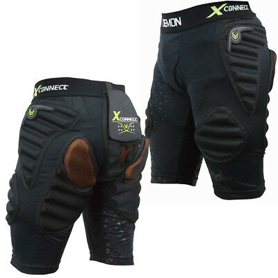 Demon X Flex Force Connect X D3O Padded Snowboard Impact Shorts Hip DS1622
