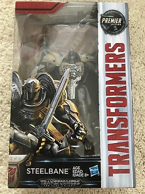 Transformers: The Last Knight Premier Edition Deluxe Steelbane New in Box