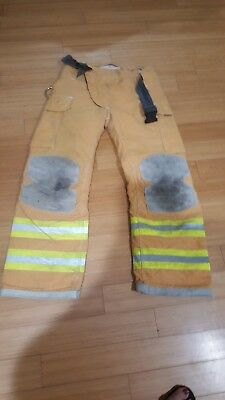 Janesville Firefighter Turnout Pants Bunker Gear With Liner 34X32
