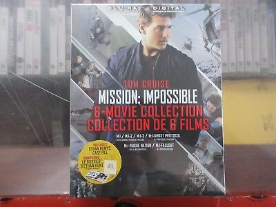 BRAND NEW Mission Impossible 6-Movie Collection (Blu Ray + Digital)