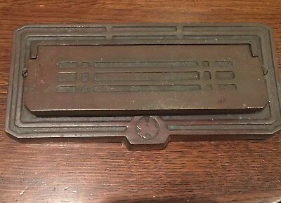 Arts & Crafts Mail Slot Mission 1910 Metal Architectural Salvage Frank Wright