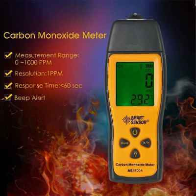 SMART SENSOR Handheld Carbon Monoxide Meter Digital CO Leak Detector Analyzer