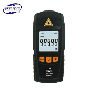 GM8905 Digital LCD Tachometer RPM Tach Test Meter Motor Speed Gauge Tester