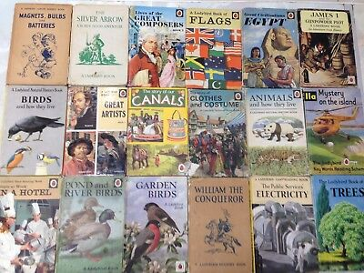 Collection of 18 Ladybird Books. History, Science, Nature, Etc.