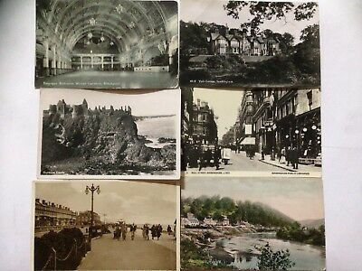 Collection of 6 Old UK Postcards. Sandringham, Worthing, Blackpool etc. (14)