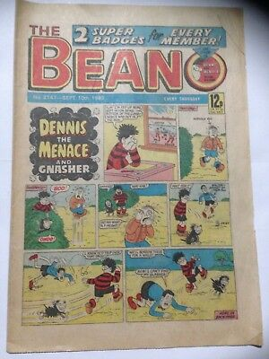 DC Thompson THE BEANO Comic. Issue 2147 September 10th 1983 **Free UK Postage**