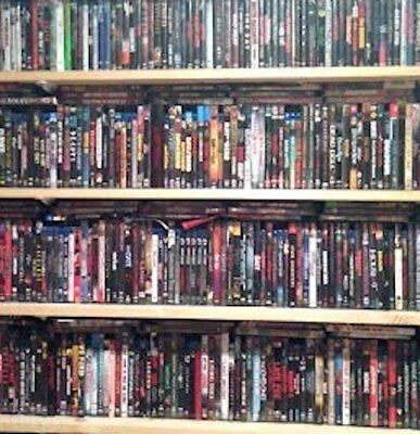 MASSIVE Over 462 DVDs Blu-Rays Wholesale Lot New and Used