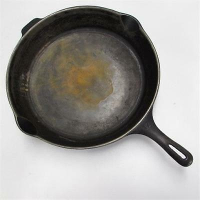 "Vintage Wagner Ware 13.5"" Cast Iron Skillet #12 Made in USA GHC Double Pour"