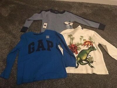 Brand New Baby Gap Boys Bundle Of Long Sleeved Tops Age 3 Years