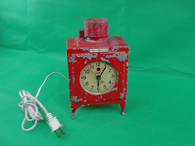 General Electric GE Telechron Refrigerator Clock Rewired Monitor Top 1930's