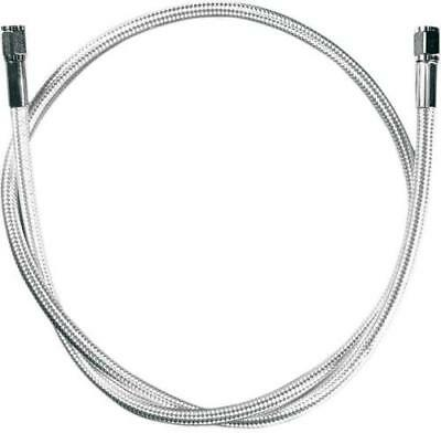 """Magnum Braided Polished Stainless Universal 58"""" Brake Line AN-3 Fittings Ends"""