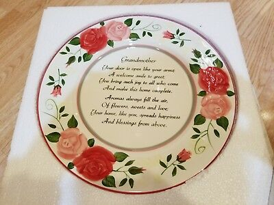 Grandmothers Limited Edition Hand Painted Plate NIB