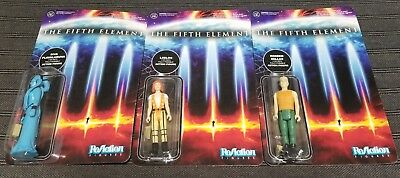 Funko Reaction Figures The Fifth Element Plavalaguna, Leeloo and Korben Lot of 3