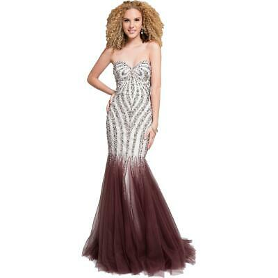 5b2fed7e6d1 TERANI COUTURE PROM Beaded Strapless Evening Dress Gown BHFO 6104 ...