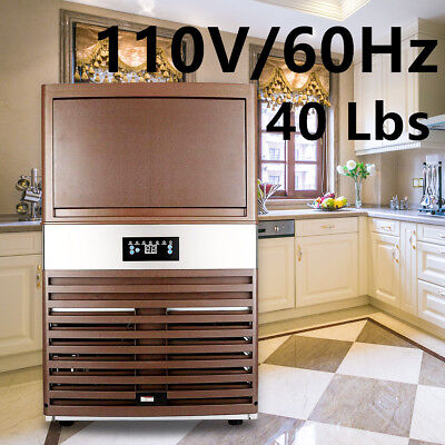 New Built-in Commercial Ice Maker Stainless Steel Restaurant Ice Cube Machine