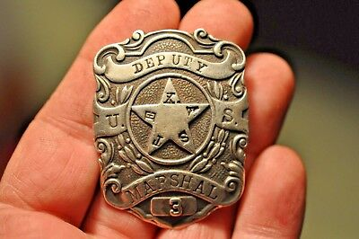 Antique Sterling Silver Obsolete Jewelry Store Deputy Marshall Police Badge