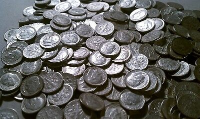$50 Face Roosevelt 90% Silver Dimes (500 dimes) - FREE shipping