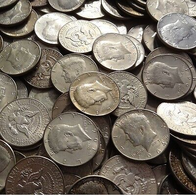 $50 Face (100 halves) 1964 Kennedy 90% Silver Half Dollars - FREE shipping