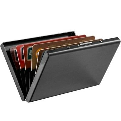Stainless Steel RFID Blocking Slim Wallet Card Protector Coin Cash Holder Purse