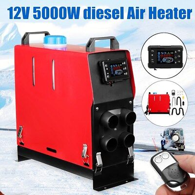 Diesel Air Heater 5KW 12V All In 1 LCD Monitor For Truck Boat Motorhome Trailer