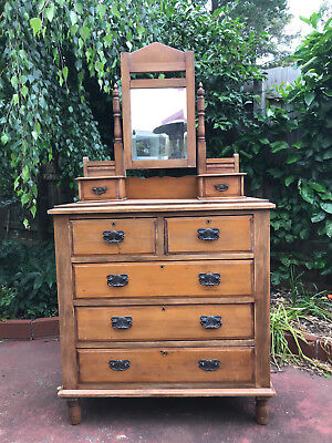 Antique Pine Duchess Chest Of Drawers C1900 Melbourne Delivery Available