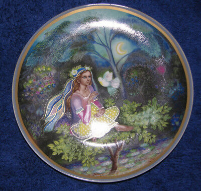 Decorative Plate With Woman And Dove