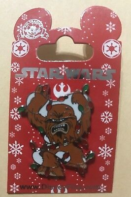 Disney Pin Star Wars Chewbacca Covered Tangled in Christmas Lights