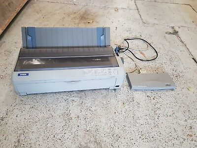 Epson LQ-2090 24 Pin Dot Matrix Printer with HP External Print Server J3265A