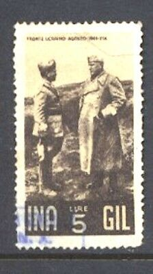 Italy Fascist Related Poster Stamp Fund Raiser Mussolini at Ukrainian Front