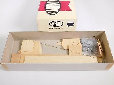 HO Scale Ambroid H-24 Undecorated Payroll Unpainted Model Train Kit