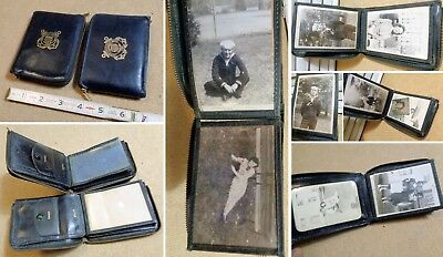 lot of 2 COAST GUARD WALLET billfold one with ORIGINAL WW2 ERA sailor PICTURES