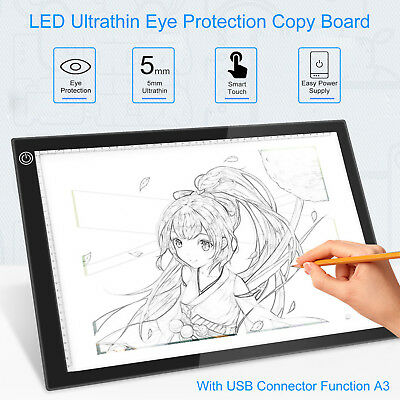 Portable A3 LED Light Pad Box Drawing Tablet Tracing Tracer Copy Board Table Pad