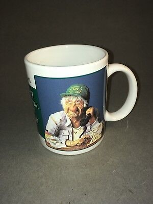 John Deere hat coffee mug